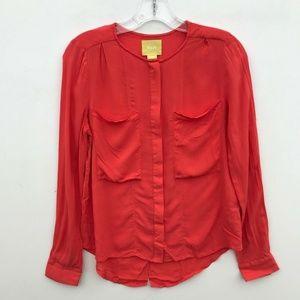 Maeve Anthropologie Button Down Shirt LS #829